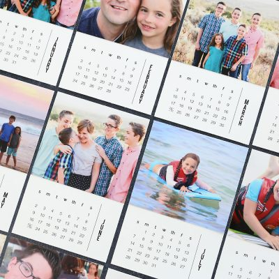 DIY mini 2021 photo calendar {free printable templates}