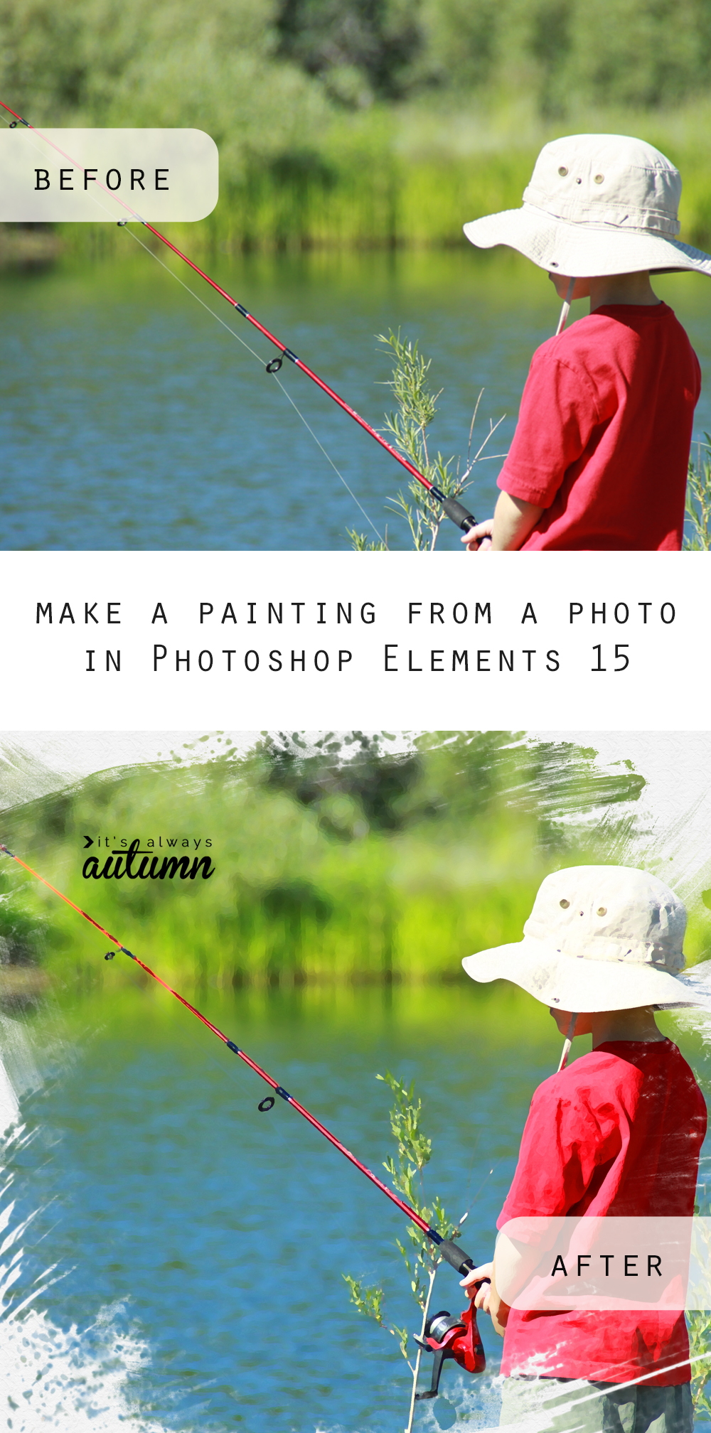 Learn how to turn a photo into a painting in just a few clicks using the new guided edit in Photoshop Elements 15.