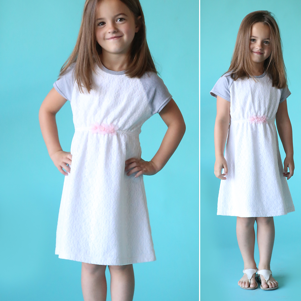 "the ""play all day dress"" free pattern w/raglan sleeves"