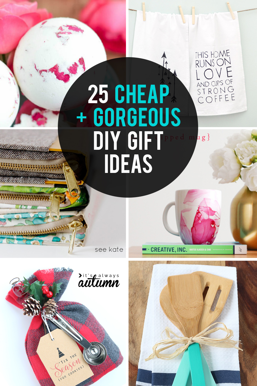 These DIY gifts ideas are cheap AND gorgeous! Great homemade gift ideas for Christmas, birthdays, Mother's Day and more.