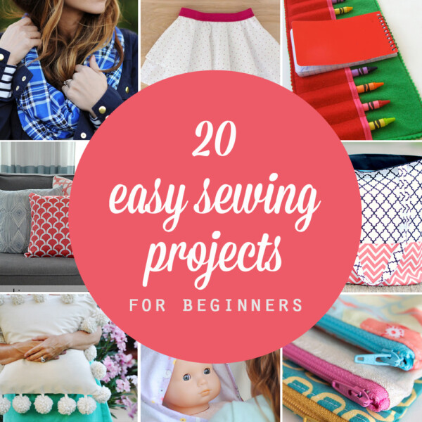 collage of easy sewing projects for beginners
