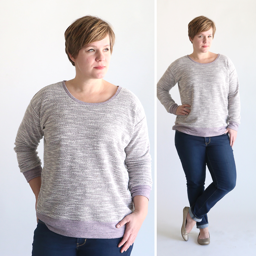 the perfect slouchy sweatshirt | free pattern