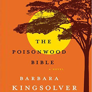 The Poisonwood Bible book cover with tree and sun