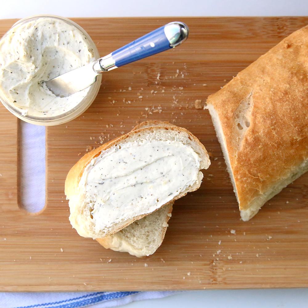 Amazing homemade french bread and garlic spread