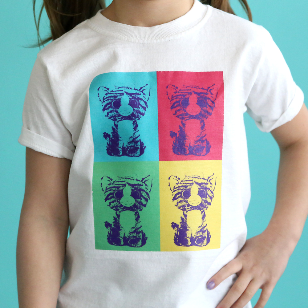 DIY pop art tee with Photoshop Elements