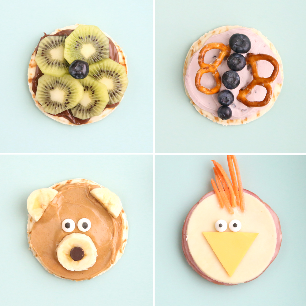 silly snacks to make with your kids {easy + healthy}