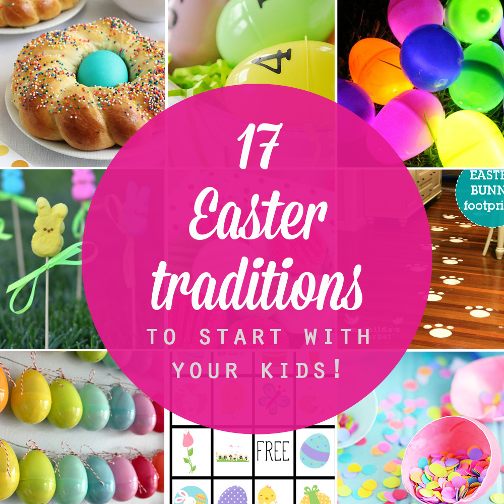 Collage of Easter tradition ideas