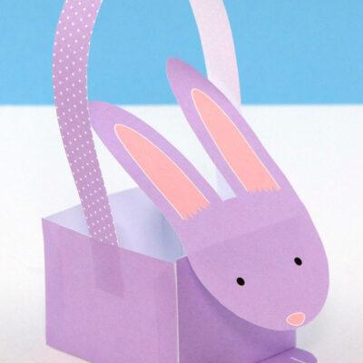 Printable paper bunny basket