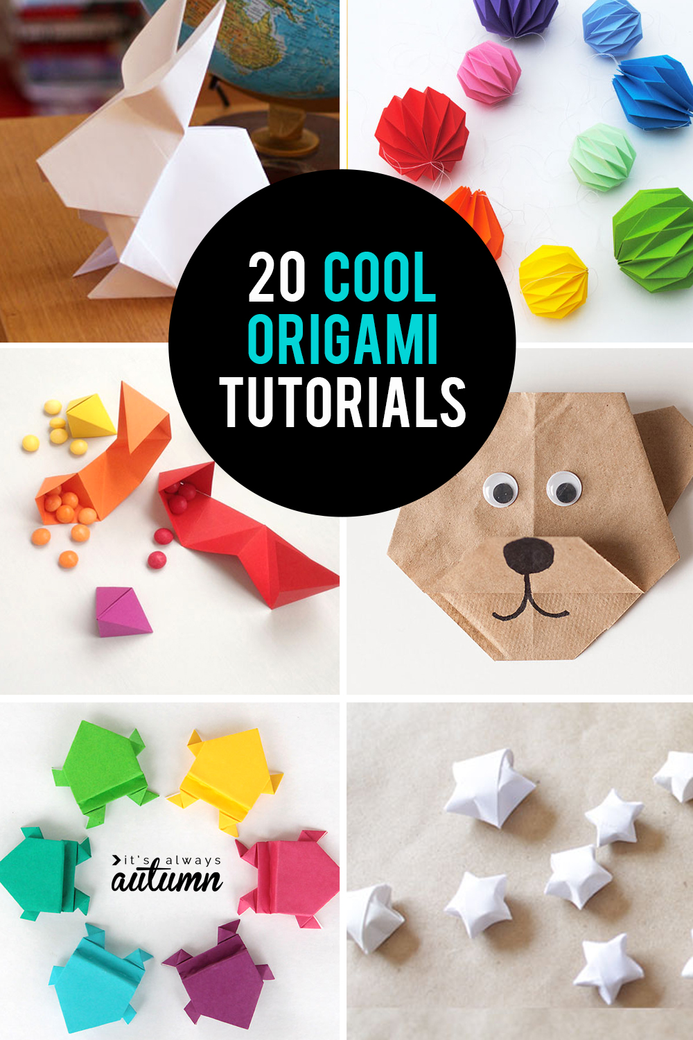 20 fun, easy, cool origami tutorials for kids and adults.