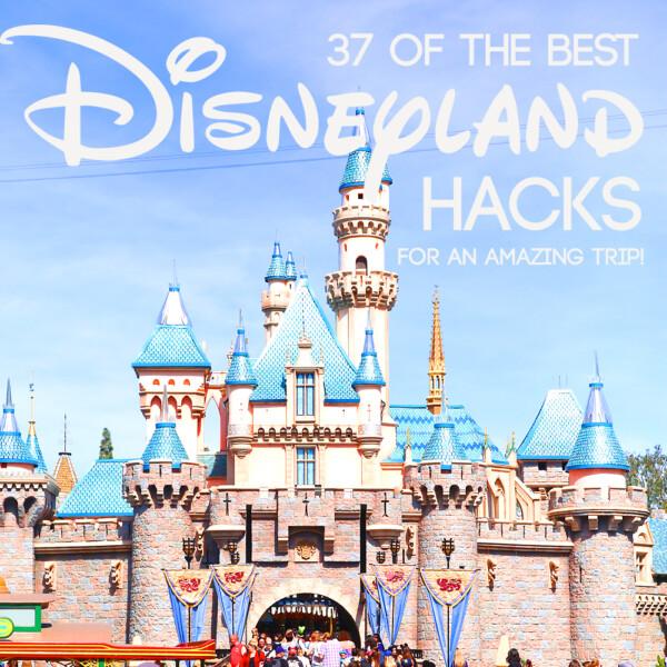 Cinderella's castle at Disneyland with words: 37 of the best Disneyland hacks