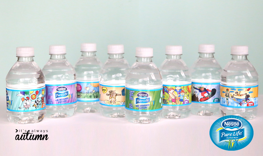 Small nestle pure life water bottles