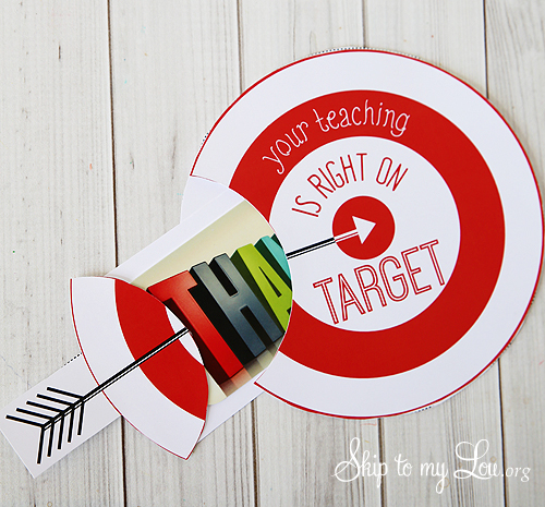Your teaching is right on target gift card holder