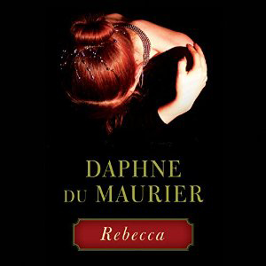 Rebecca book cover, woman with her head down