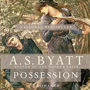 Possession book cover, man and woman in a garden