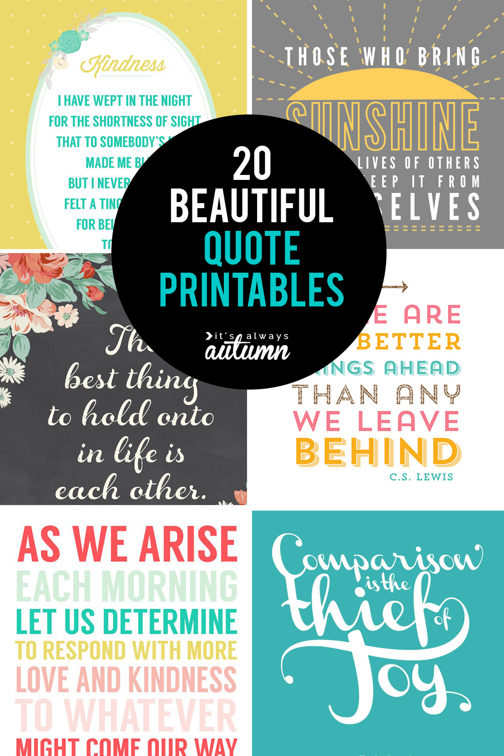 5 gorgeous printable quotes  free inspirational quote prints