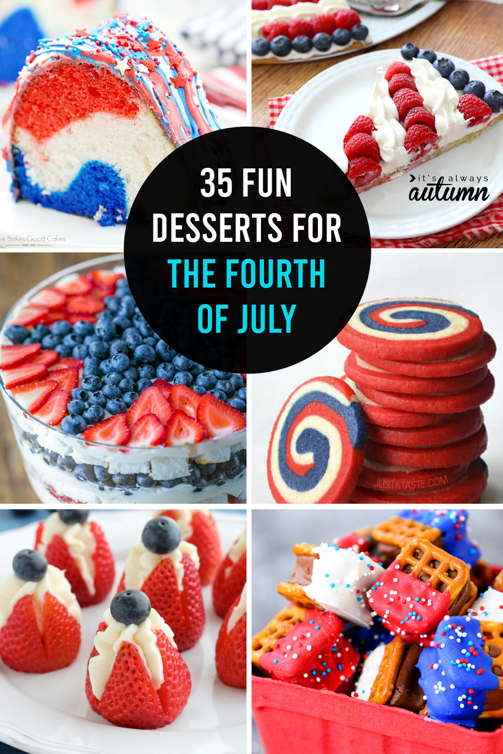 35 red, white and blue desserts for the 4th of July!