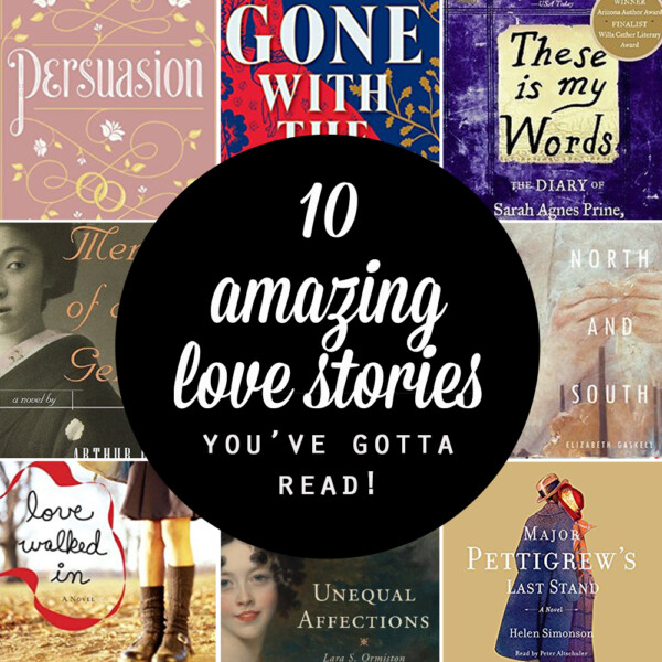 Collage of book covers for love stories