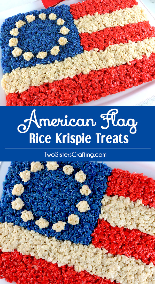 Rice Krispie treats in the shape of an American flag