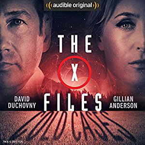 The X-Filed book cover, with David Duchovny and Gillian Anderson
