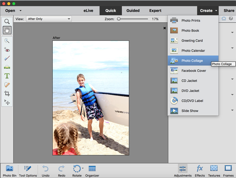Photo in Photoshop Elements