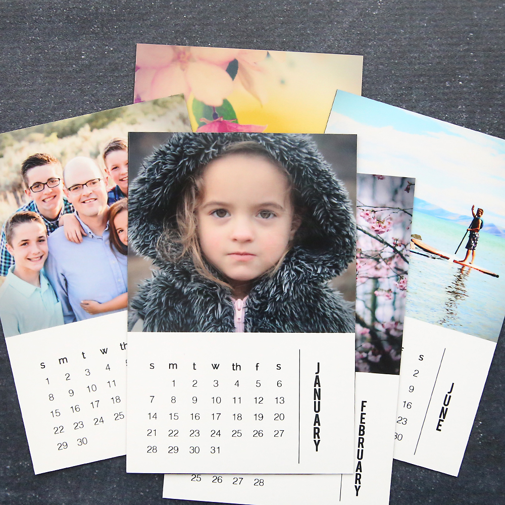 DIY Photo calendar magnets {free 2020 templates}