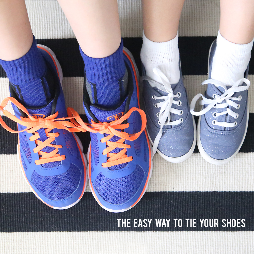 The FAST + EASY WAY to tie your shoes {great for kids!}