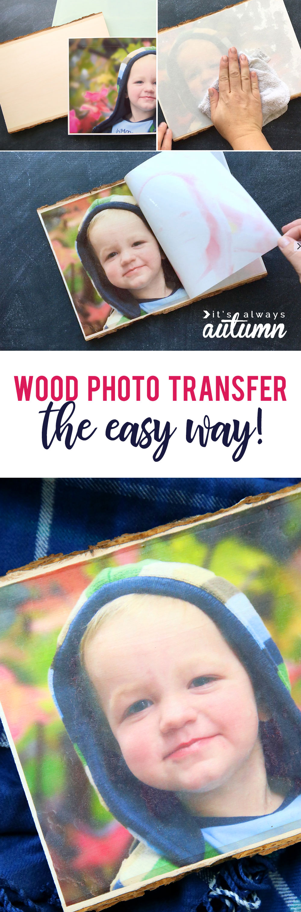 Wood photo transfer the easy way