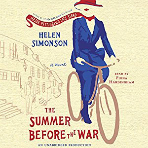 Summer Before the War book cover, woman on a bicycle