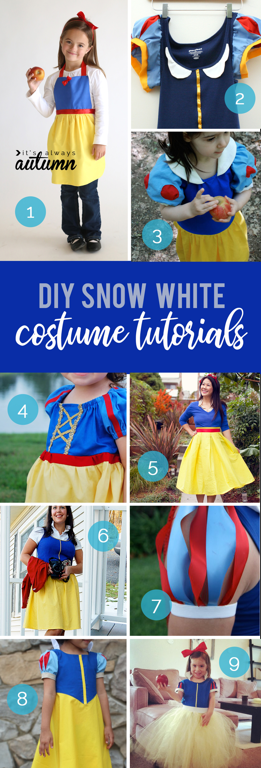How to make a DIY Snow White costume - all the best tutorials for how to make a homemade Snow White costume.