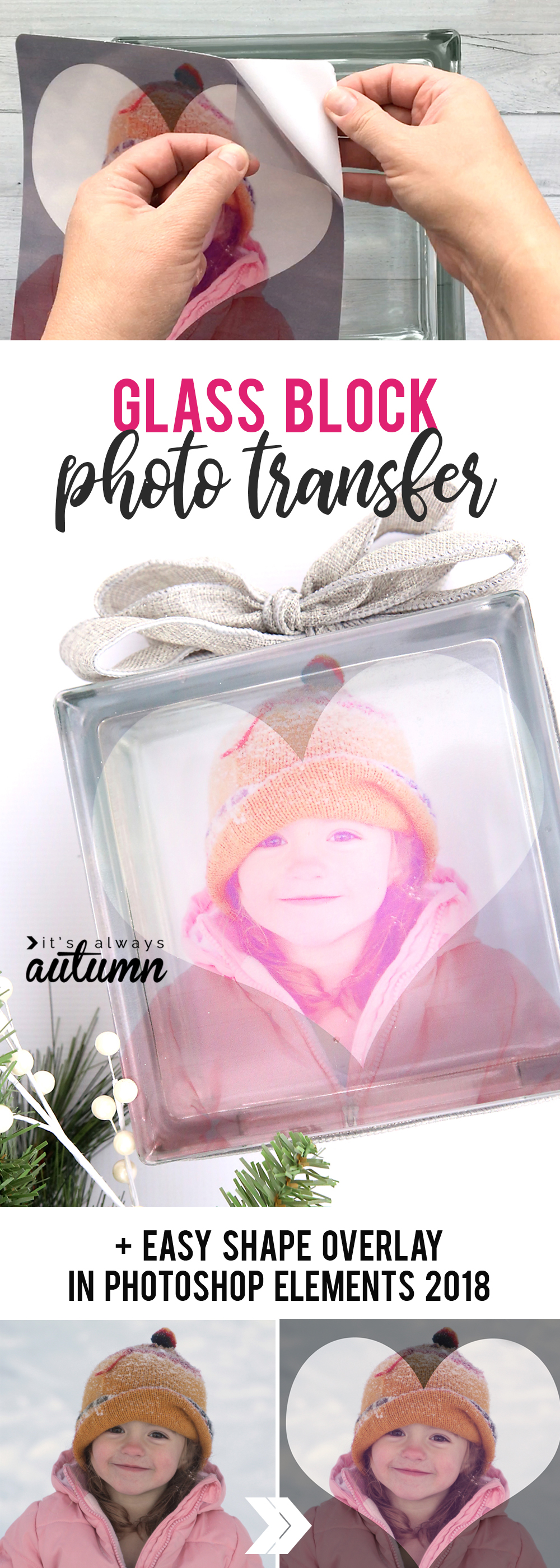 How to make a glass photo block - it's so easy! Gorgeous DIY gift idea.