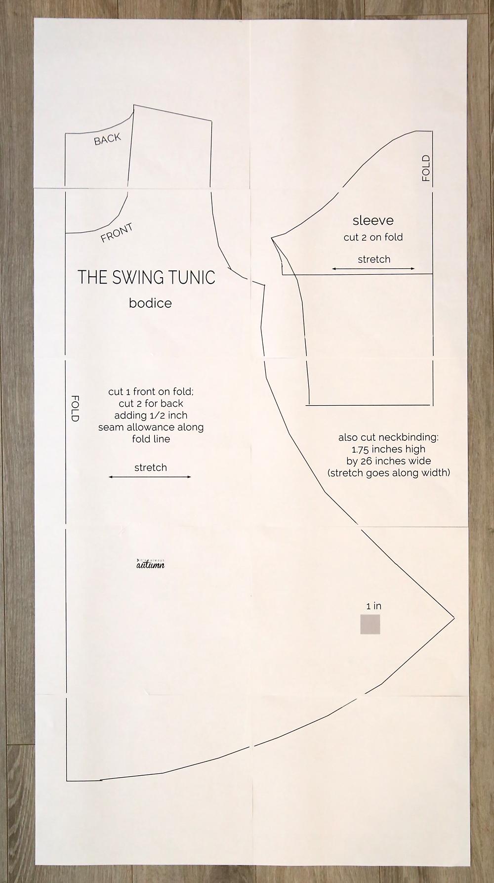 The swing tunic sewing pattern