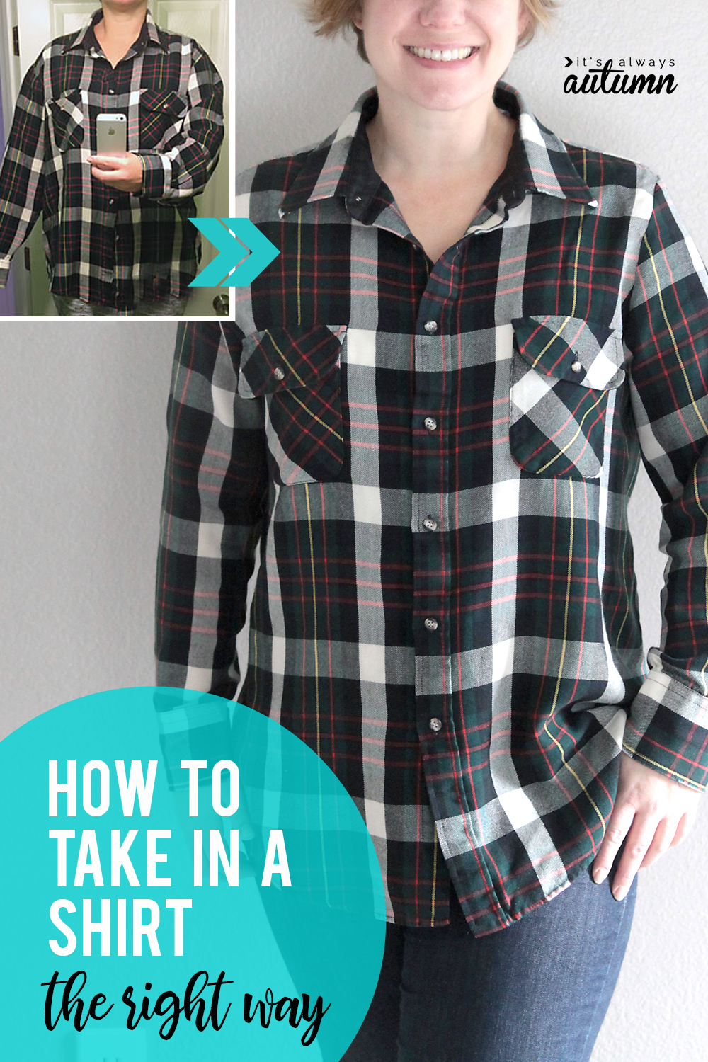 How to take in a shirt THE RIGHT WAY! Easy sewing tutorial.