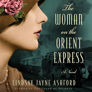 The Woman on the Orient Express book cover, woman with old fashioned hat