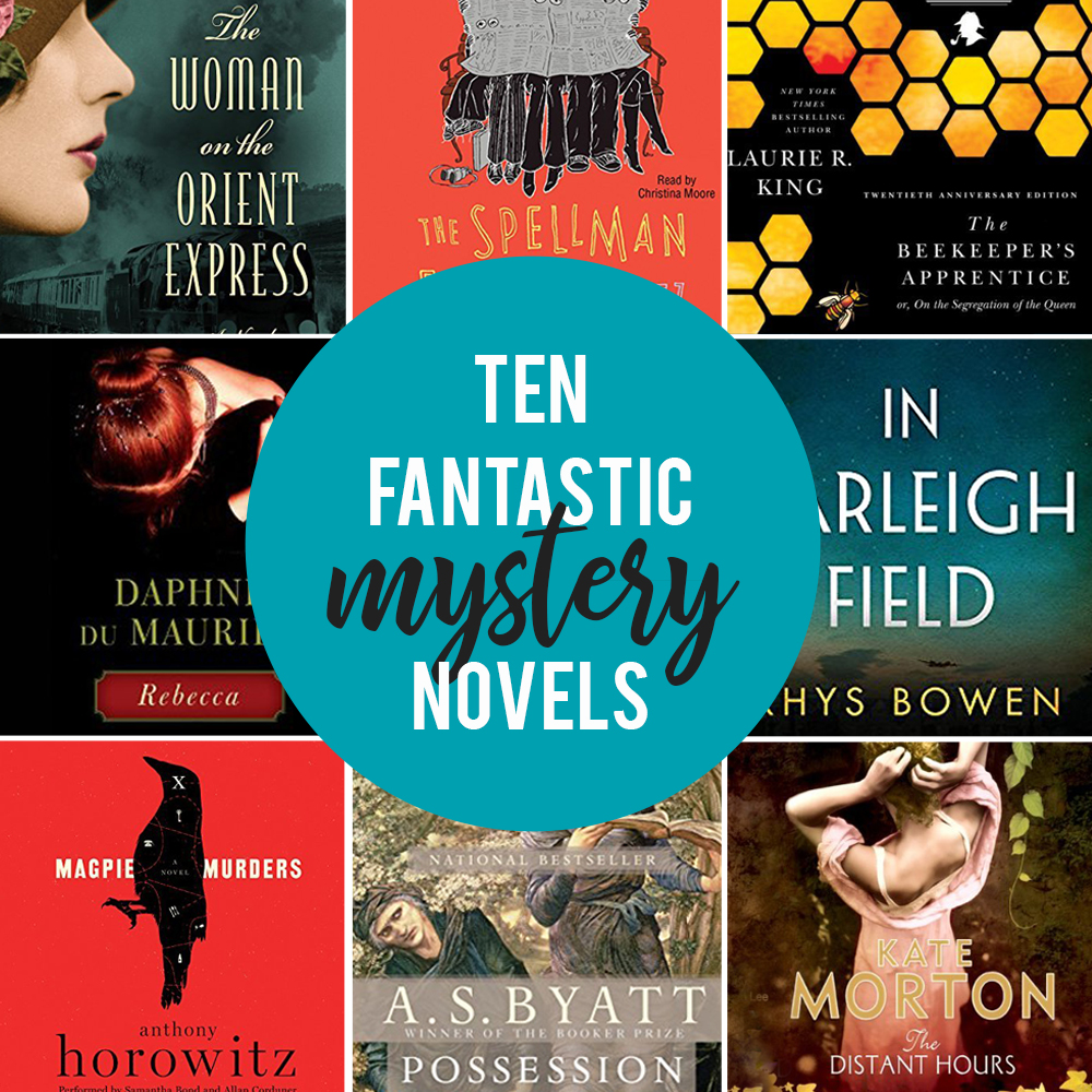 Collage of Mystery novels book covers