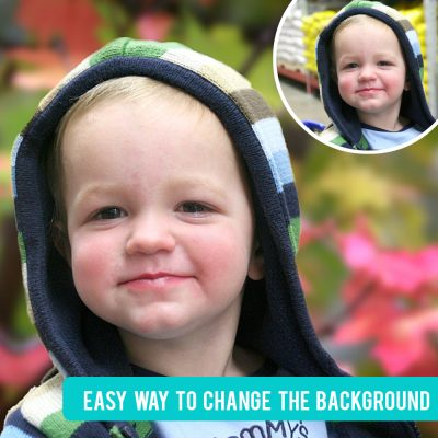 How to change the background in your photo to something way cooler!