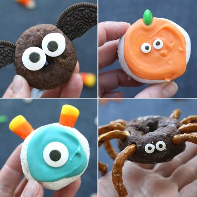 Cute + easy mini Halloween donuts to make with your kids