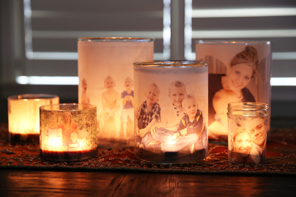 DIY photo candles craft