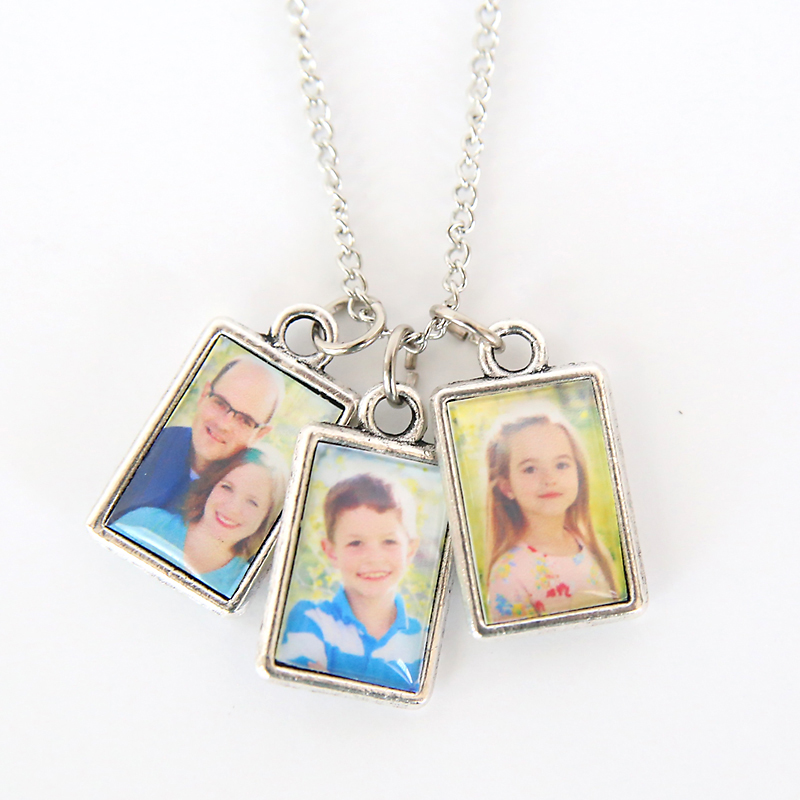 Photo pendants on a chain