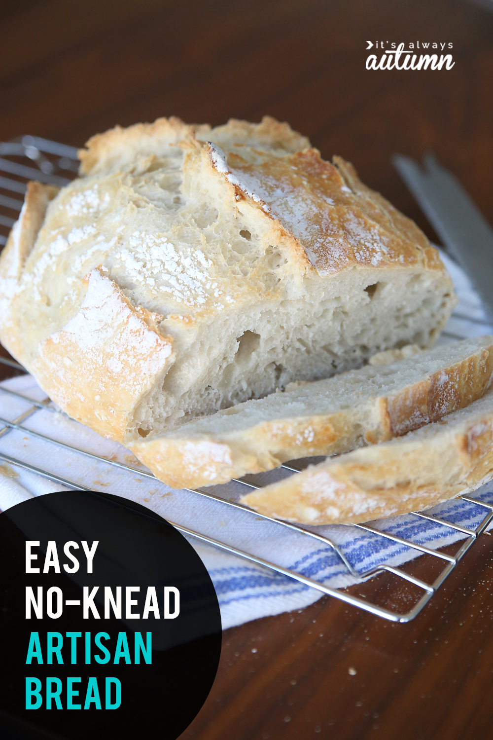Crazy easy homemade artisan bread {only 4 ingredients ...