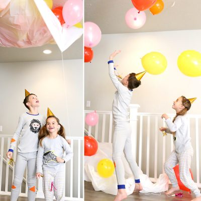 DIY balloon drop for New Year's Eve