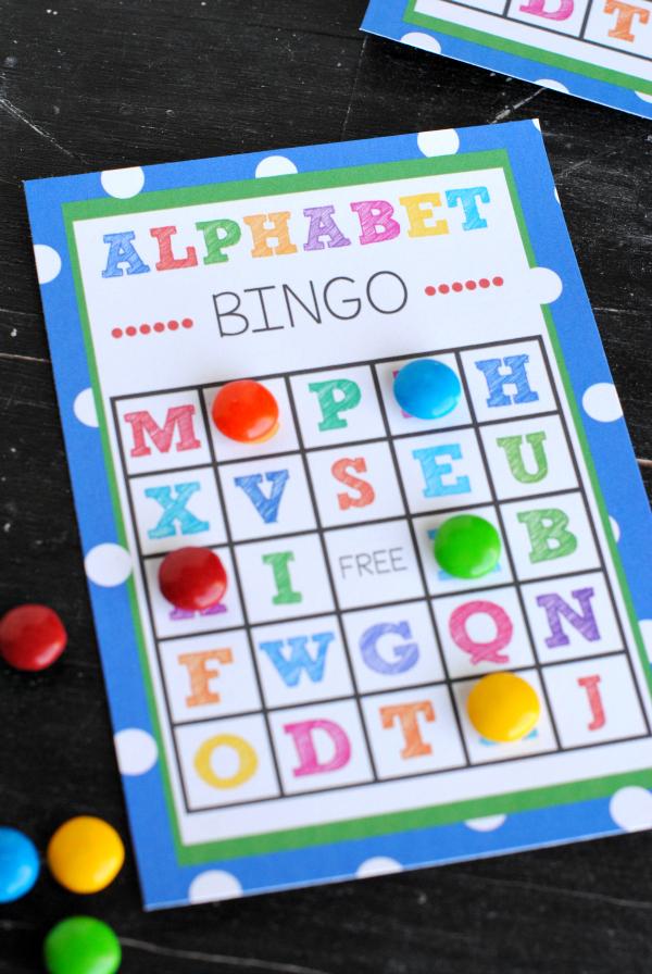 Printable alphabet bingo card
