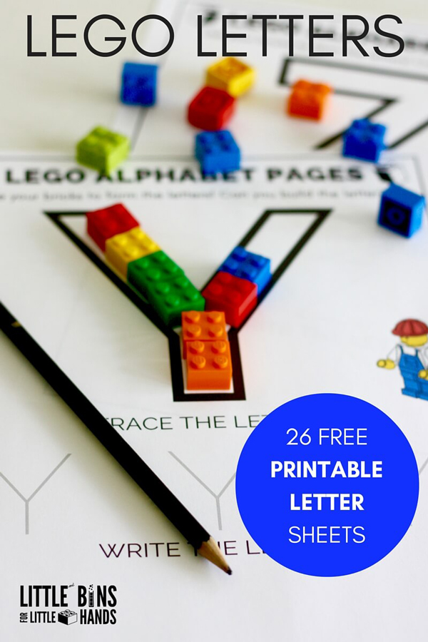 Printable letter templates and legos
