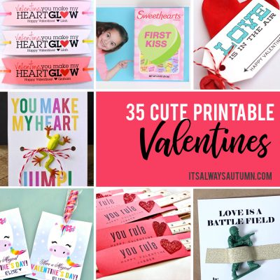 35 Adorable DIY Valentines cards for kids that you can print at home!
