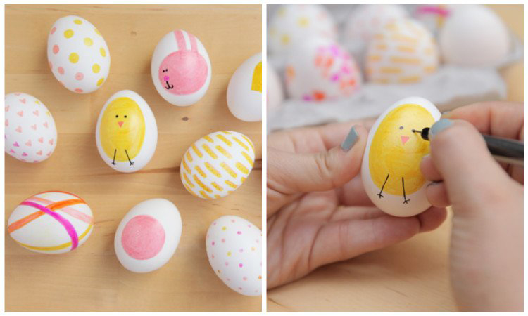 This year try one of these creative egg decorating ideas! DIY Easter egg decorating for kids.