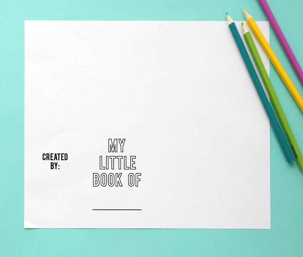 Mini book foldable paper template