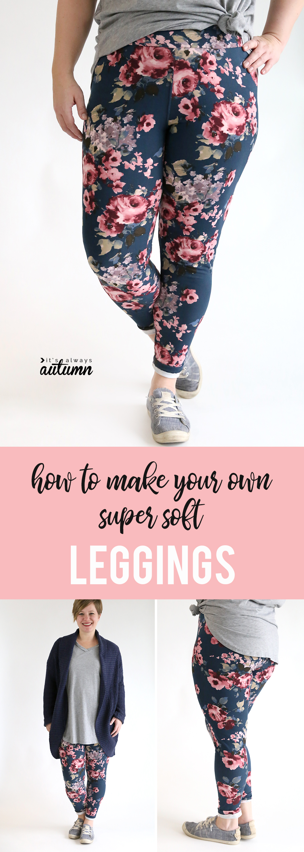 How to make buttery soft leggings at home. How to sew your own LulaRoe leggings.