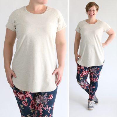 Long raglan t-shirt sewing pattern