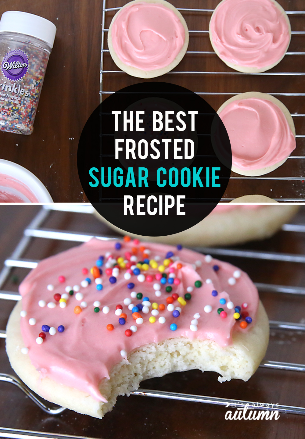 This is THE BEST soft sugar cookie recipe! Plus the best cream cheese frosting for sugar cookies.