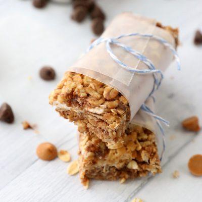 15 minute chewy chocolate granola bars
