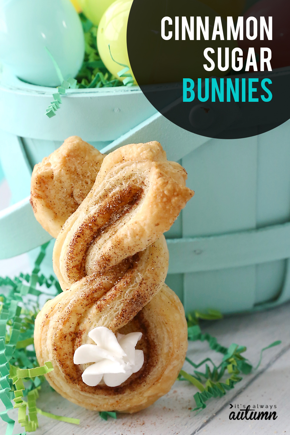 Cinnamon sugar Easter bunny twists are a fun, easy Easter treat to make with your kids.